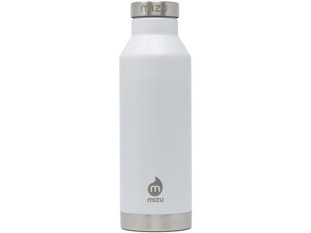 MIZU V6 Insulated Bottle with Stainless Steel Cap 600ml enduro white